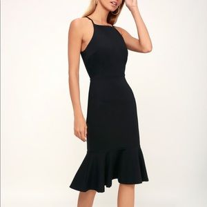LULUS THIS COULD BE LOVE BLACK BODYCON DRESS NWOT